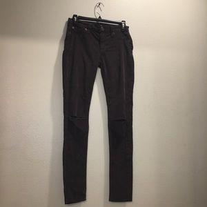 Hudson Black Midrise Nico Super Skinny Jeans